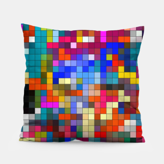 Thumbnail image of COLOURED SQUARED Pillow, Live Heroes
