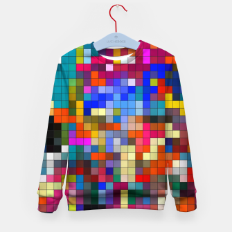 Thumbnail image of COLOURED SQUARED Kid's sweater, Live Heroes