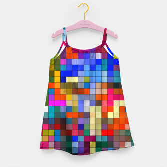 Thumbnail image of COLOURED SQUARED Girl's dress, Live Heroes