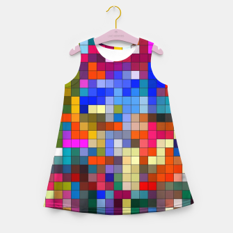 Thumbnail image of COLOURED SQUARED Girl's summer dress, Live Heroes