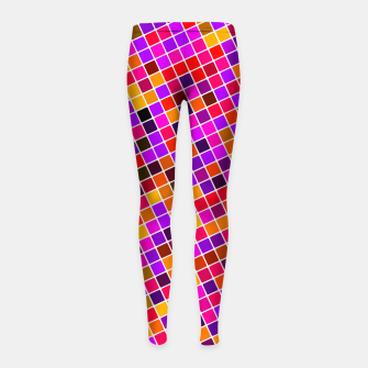 Thumbnail image of COLOUR SQUARED 13 Girl's leggings, Live Heroes