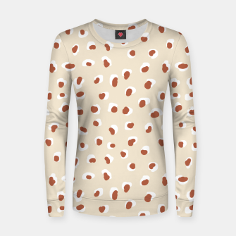 Miniaturka Handmade animal-print rust Women sweater, Live Heroes