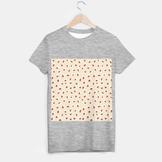 Miniaturka Handmade animal-print rust T-shirt regular, Live Heroes
