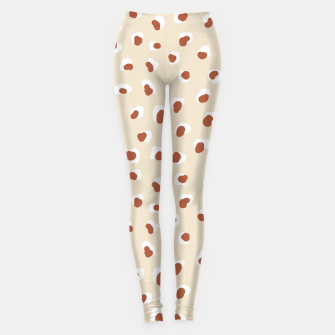 Miniaturka Handmade animal-print rust Leggings, Live Heroes