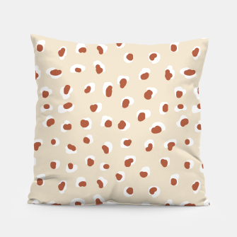 Miniaturka Handmade animal-print rust Pillow, Live Heroes