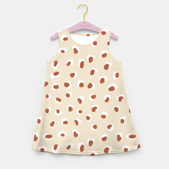 Miniaturka Handmade animal-print rust Girl's summer dress, Live Heroes
