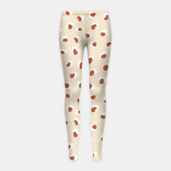 Miniaturka Handmade animal-print rust Girl's leggings, Live Heroes