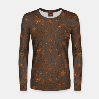 Thumbnail image of Blossoming veins of the orange neon world  Women sweater, Live Heroes