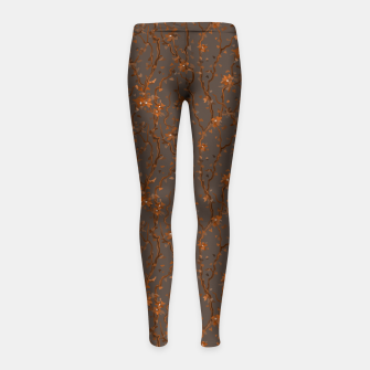 Miniatur Blossoming veins of the orange neon world  Girl's leggings, Live Heroes