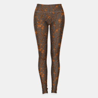 Miniatur Blossoming veins of the orange neon world  Leggings, Live Heroes