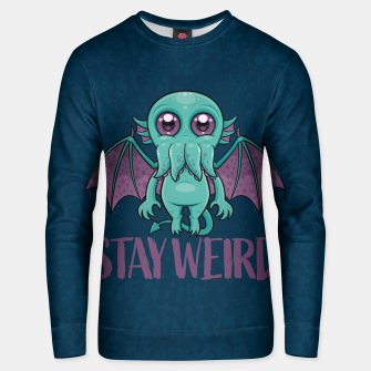 Thumbnail image of Stay Weird Cute Cthulhu Monster Unisex sweater, Live Heroes