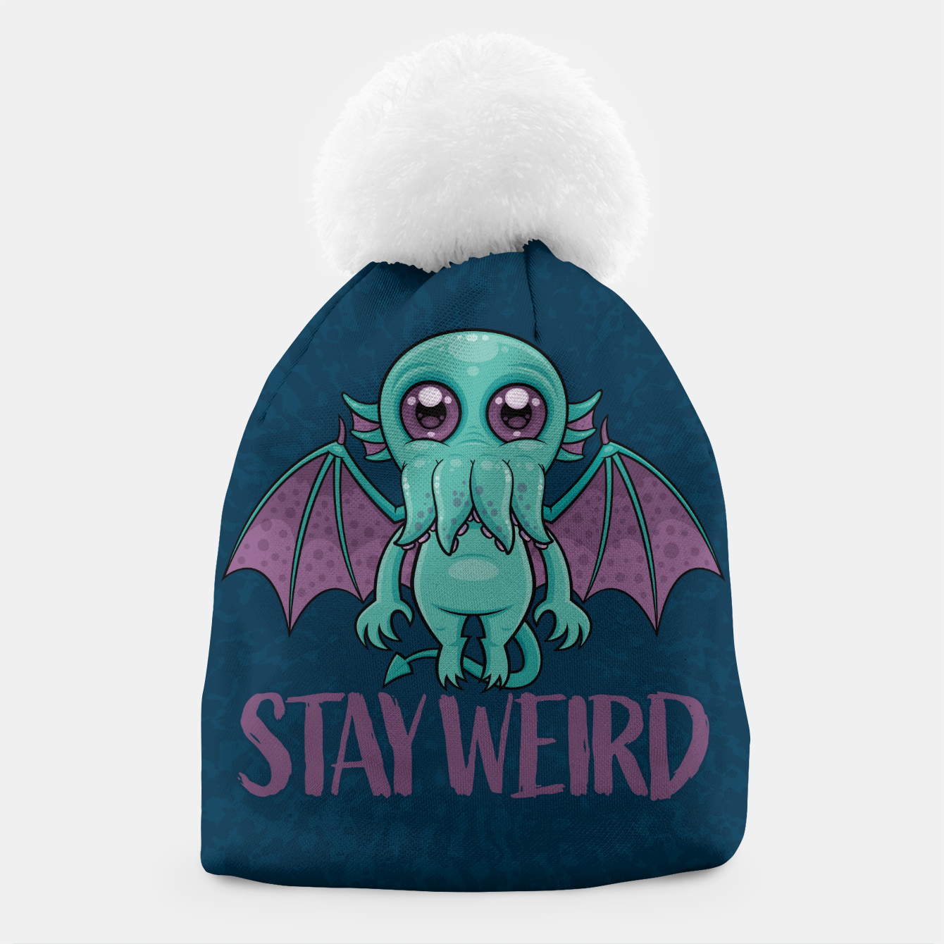 Image of Stay Weird Cute Cthulhu Monster Beanie - Live Heroes