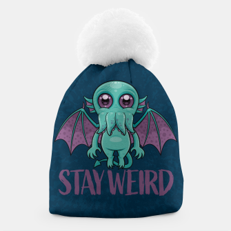 Thumbnail image of Stay Weird Cute Cthulhu Monster Beanie, Live Heroes