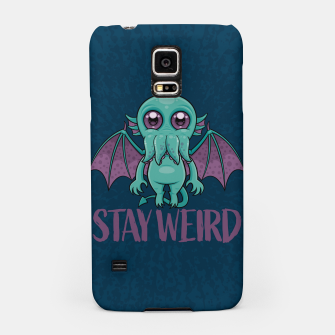 Thumbnail image of Stay Weird Cute Cthulhu Monster Samsung Case, Live Heroes