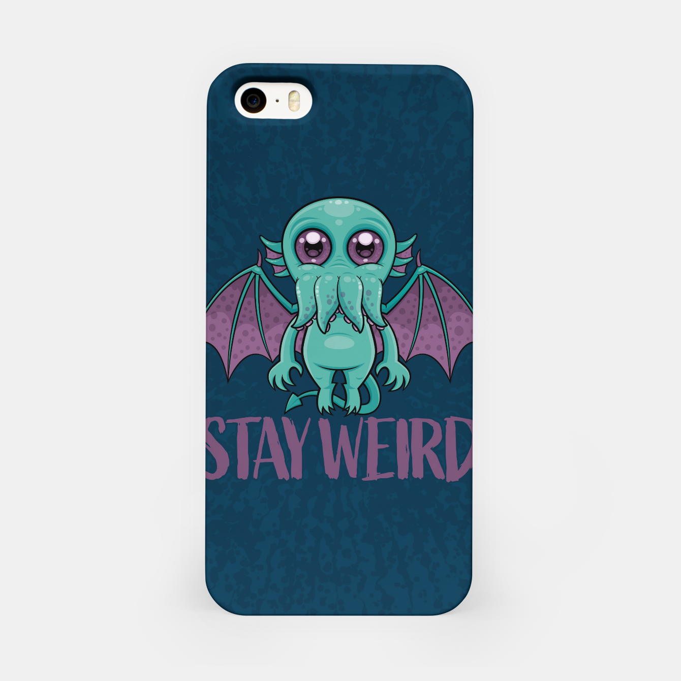 Image of Stay Weird Cute Cthulhu Monster iPhone Case - Live Heroes