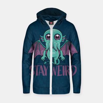 Thumbnail image of Stay Weird Cute Cthulhu Monster Zip up hoodie, Live Heroes