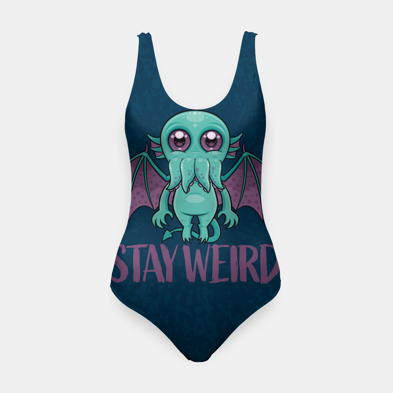 Image of Stay Weird Cute Cthulhu Monster Swimsuit - Live Heroes