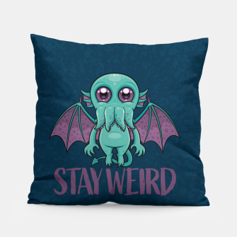 Thumbnail image of Stay Weird Cute Cthulhu Monster Pillow, Live Heroes