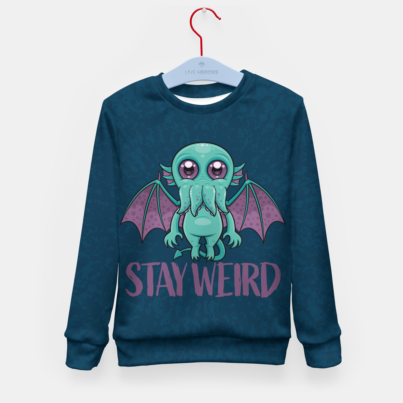 Image of Stay Weird Cute Cthulhu Monster Kid's sweater - Live Heroes
