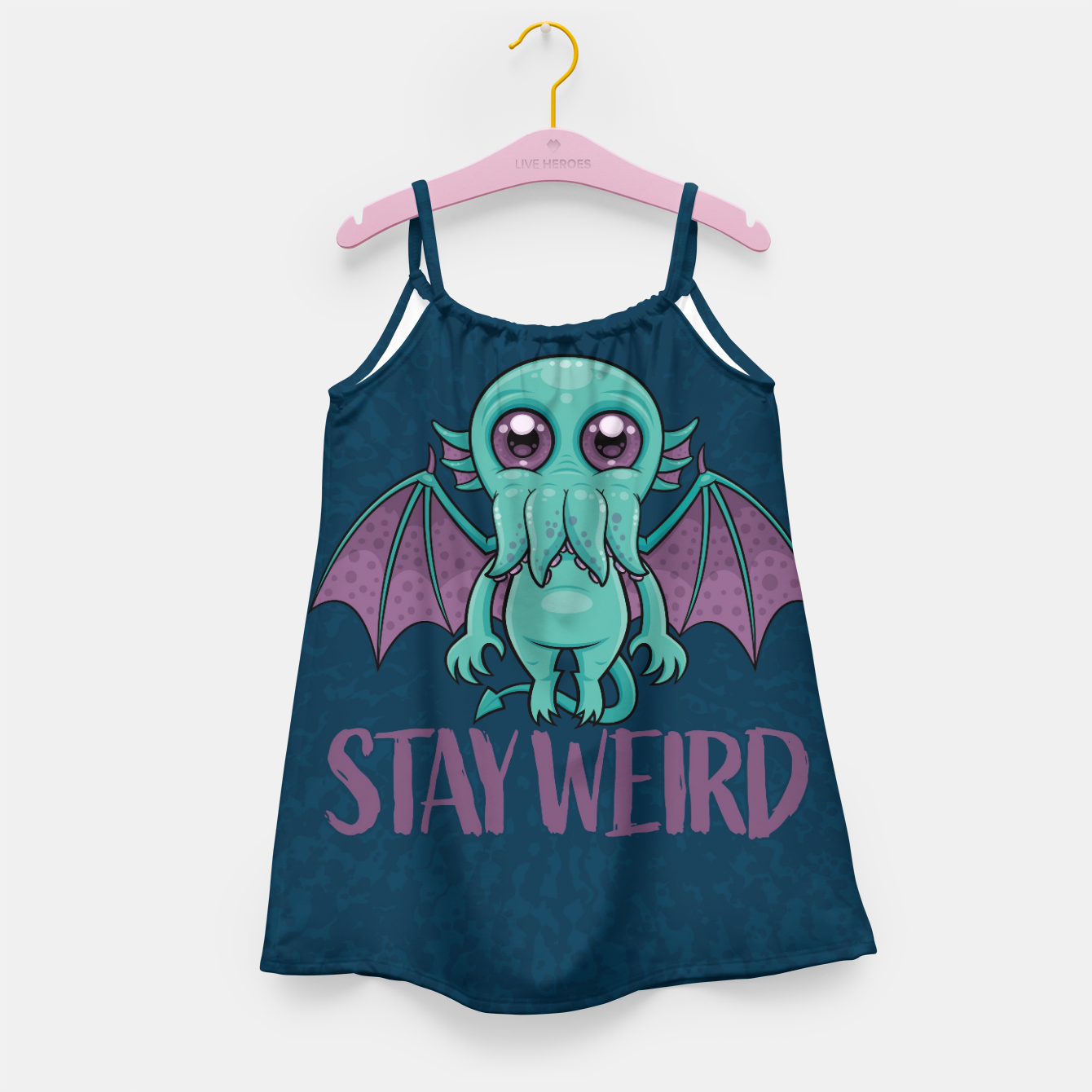 Image of Stay Weird Cute Cthulhu Monster Girl's dress - Live Heroes