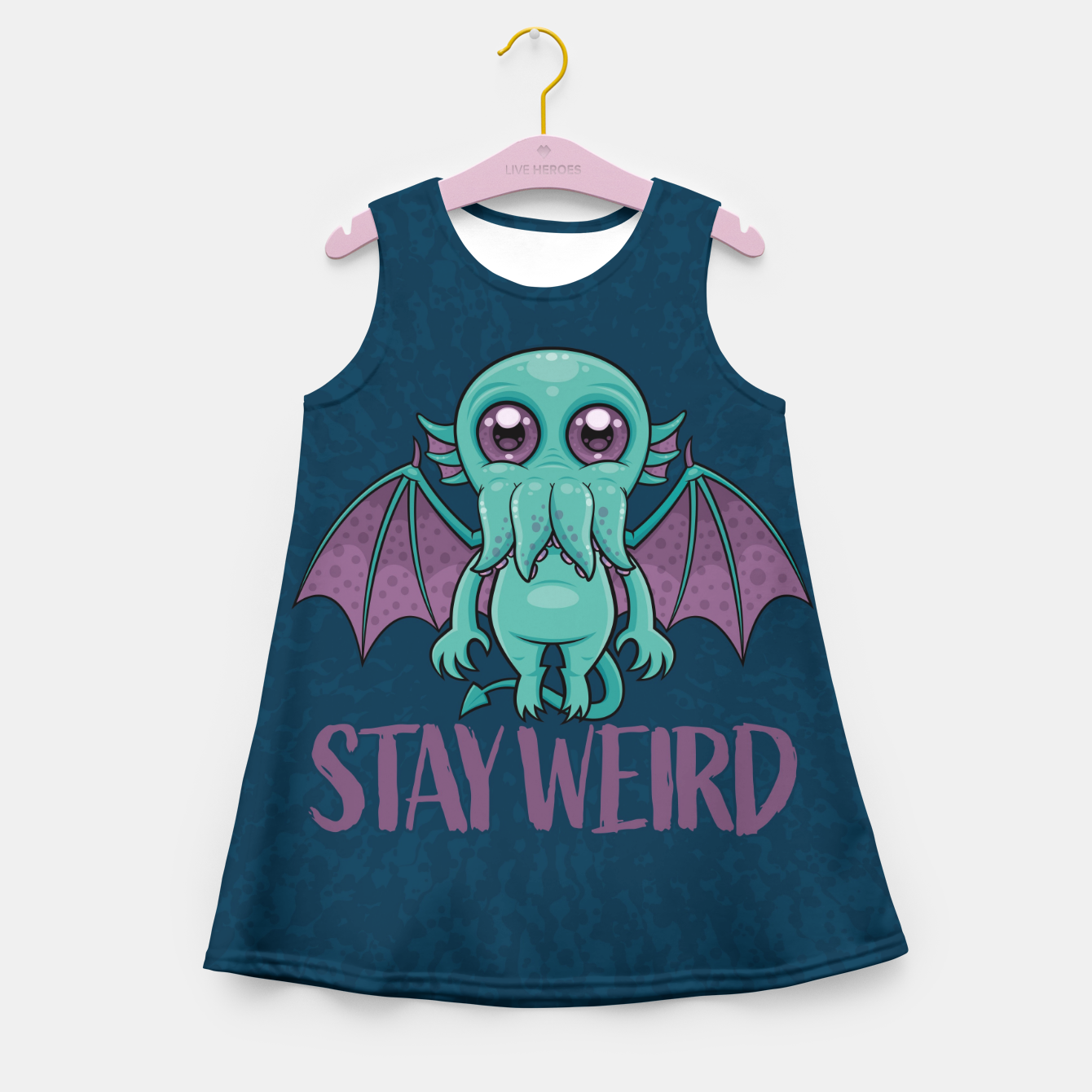 Image of Stay Weird Cute Cthulhu Monster Girl's summer dress - Live Heroes