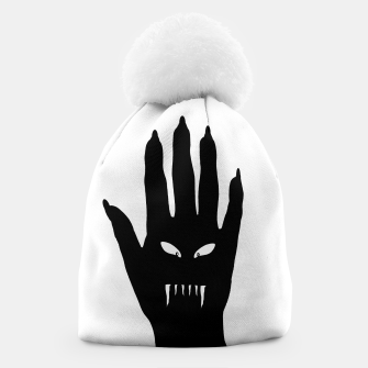 Thumbnail image of Vampire Hand Graphic Drawing Beanie, Live Heroes
