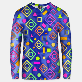 Thumbnail image of Geometric On Blue Unisex sweater, Live Heroes