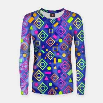 Thumbnail image of Geometric On Blue Women sweater, Live Heroes