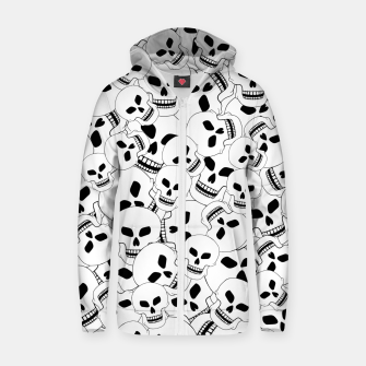 Thumbnail image of Skull Lovers Zip up hoodie, Live Heroes