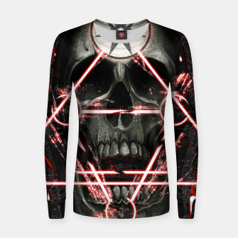 Miniatur Gothic skull Women sweater, Live Heroes