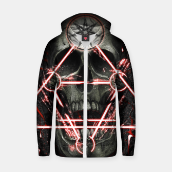 Thumbnail image of Gothic skull Zip up hoodie, Live Heroes