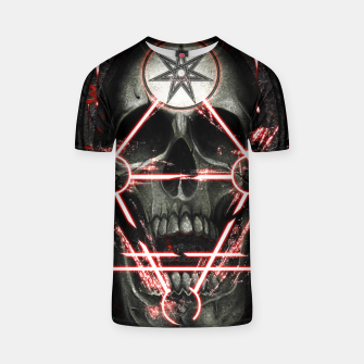 Miniatur Gothic skull T-shirt, Live Heroes