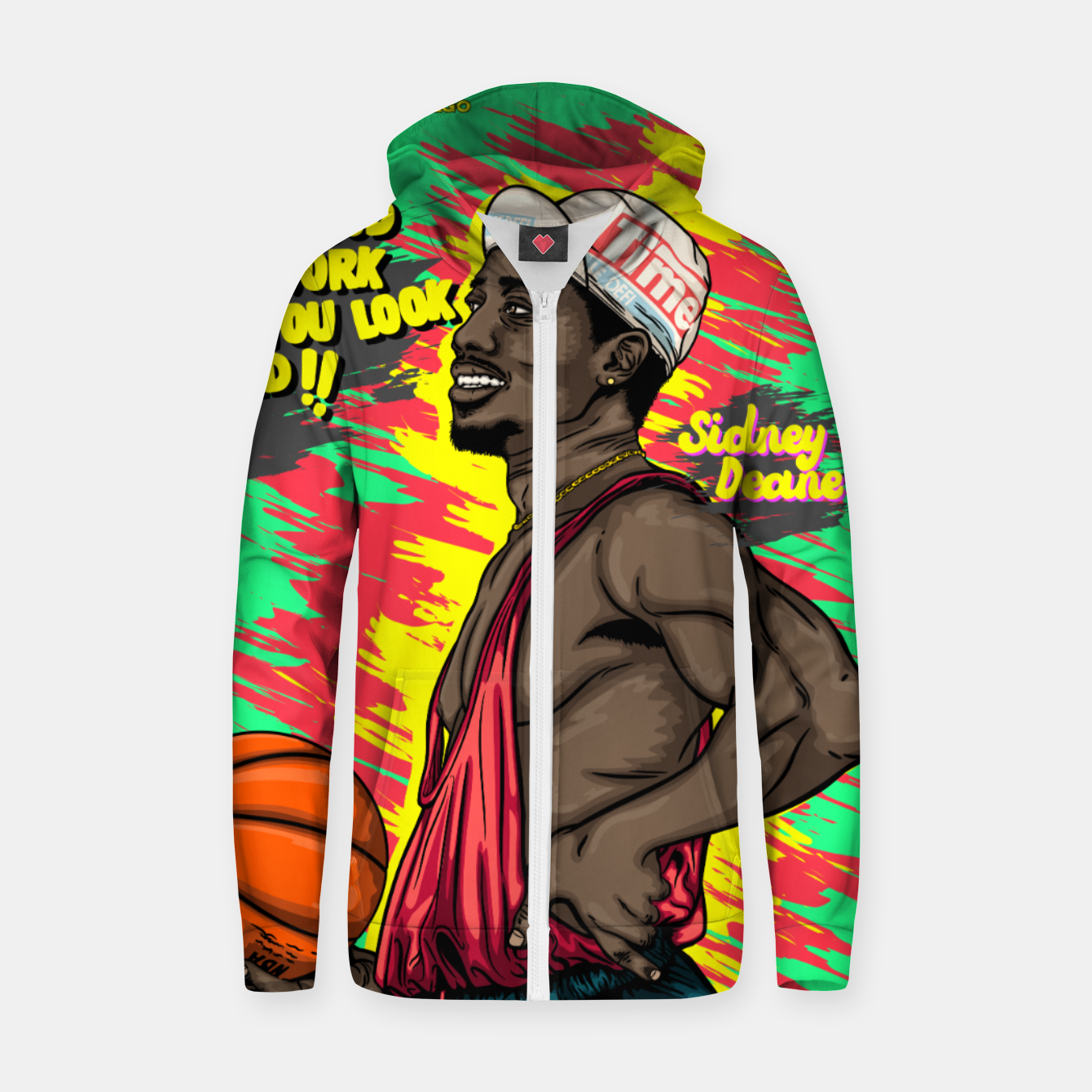 Image of Sidney Deane Grooves Sudadera con capucha y cremallera  - Live Heroes