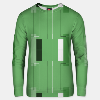 Thumbnail image of White Hairline - Warm Green Squares Unisex sweater, Live Heroes