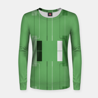 Thumbnail image of White Hairline - Warm Green Squares Women sweater, Live Heroes