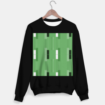 Thumbnail image of White Hairline - Warm Green Squares Sweater regular, Live Heroes