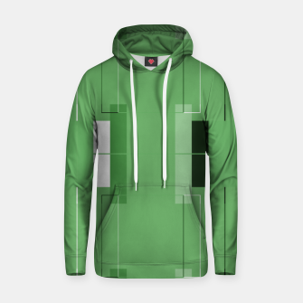 Thumbnail image of White Hairline - Warm Green Squares Hoodie, Live Heroes