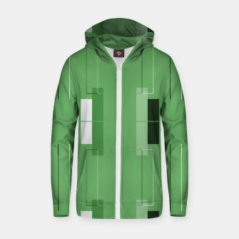 Thumbnail image of White Hairline - Warm Green Squares Zip up hoodie, Live Heroes