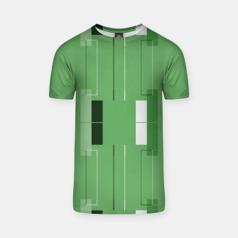 Thumbnail image of White Hairline - Warm Green Squares T-shirt, Live Heroes
