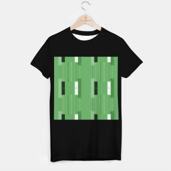 Thumbnail image of White Hairline - Warm Green Squares T-shirt regular, Live Heroes