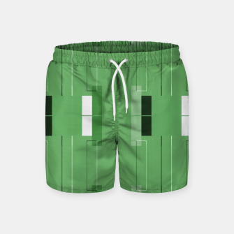 Thumbnail image of White Hairline - Warm Green Squares Swim Shorts, Live Heroes