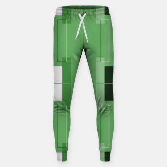 Thumbnail image of White Hairline - Warm Green Squares Sweatpants, Live Heroes