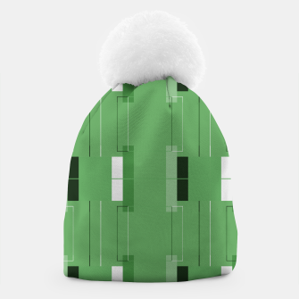 Thumbnail image of White Hairline - Warm Green Squares Beanie, Live Heroes