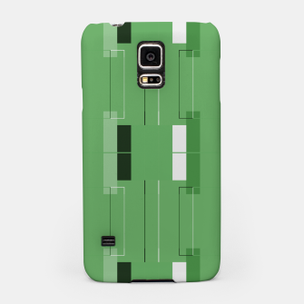 Thumbnail image of White Hairline - Warm Green Squares Samsung Case, Live Heroes