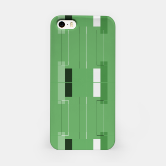 Thumbnail image of White Hairline - Warm Green Squares iPhone Case, Live Heroes