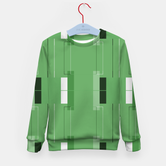 Thumbnail image of White Hairline - Warm Green Squares Kid's sweater, Live Heroes