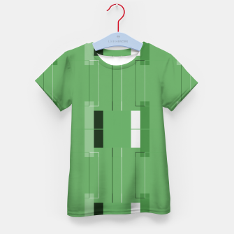 Thumbnail image of White Hairline - Warm Green Squares Kid's t-shirt, Live Heroes