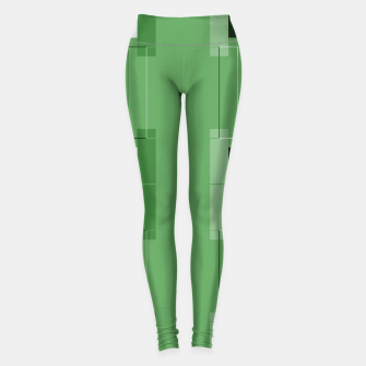 Thumbnail image of White Hairline - Warm Green Squares Leggings, Live Heroes