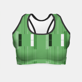 Thumbnail image of White Hairline - Warm Green Squares Crop Top, Live Heroes