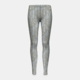 The elegant grace of nature: the wild oat Girl's leggings Bild der Miniatur